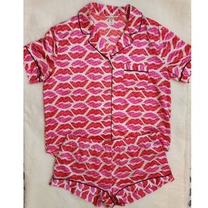 Victoria's Secret Love Pajama Set- Red/Pink- Sz L